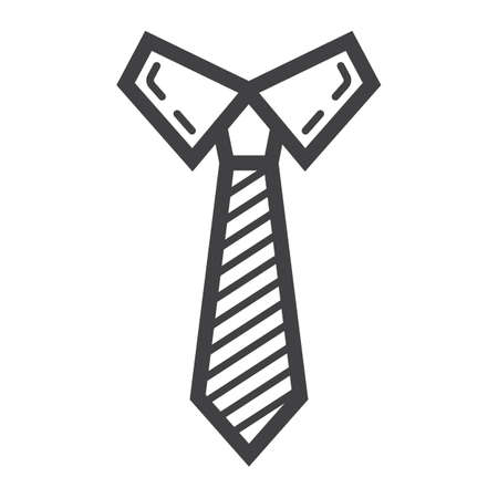 Tie line icon, business and necktie, vector graphics, a linear pattern on a white background.