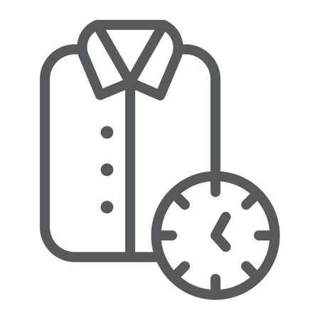 Express cleaning line icon, clean and service, shirt sign, vector graphics, a linear pattern on a white background.