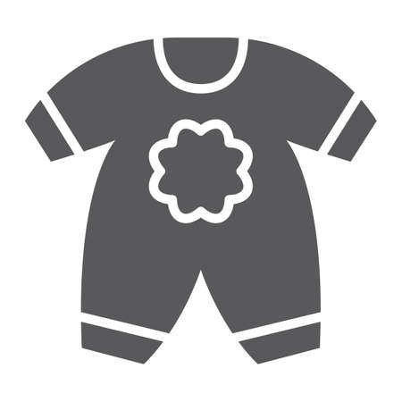 Baby clothes glyph icon, kid and clothing, body dress sign, vector graphics, a solid pattern on a white background, eps 10.