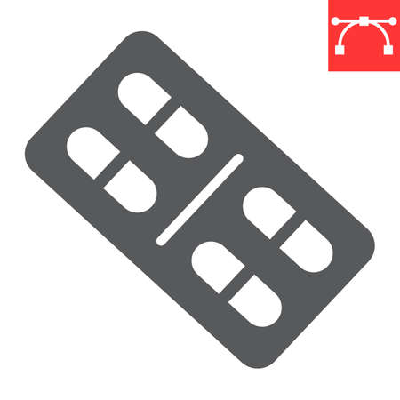 Pills glyph icon, medical and tablet, drug sign vector graphics, editable stroke solid icon.