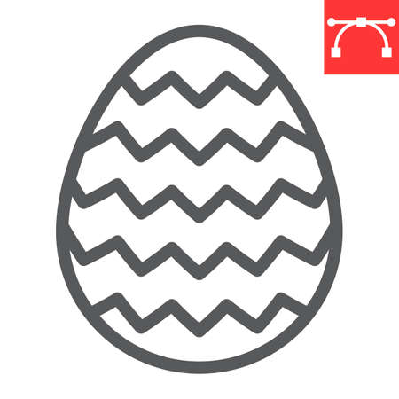 Easter egg line icon, Happy Easter and holiday, egg vector icon, vector graphics, editable stroke outline sign.