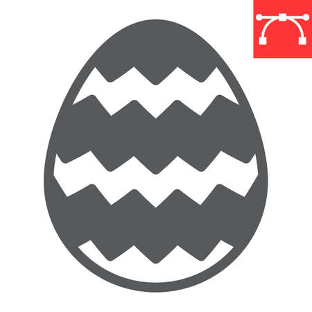 Easter egg glyph icon, Happy Easter and holiday, egg vector icon, vector graphics, editable stroke solid sign.