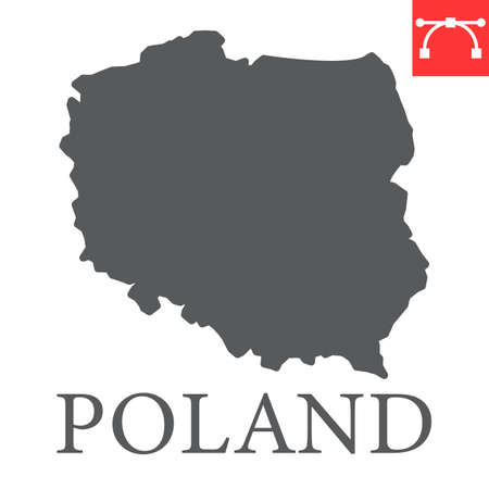 Map of Poland glyph icon