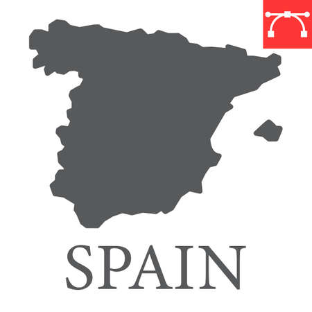 Map of Spain glyph icon