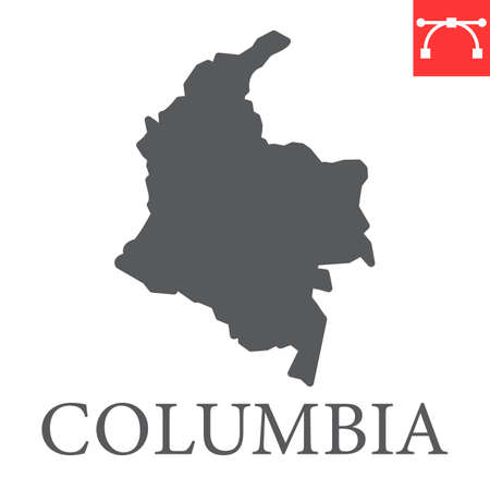 Map of Colombia glyph icon