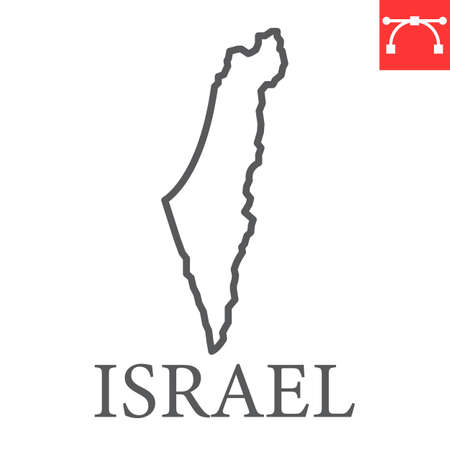 Map of Israel line icon