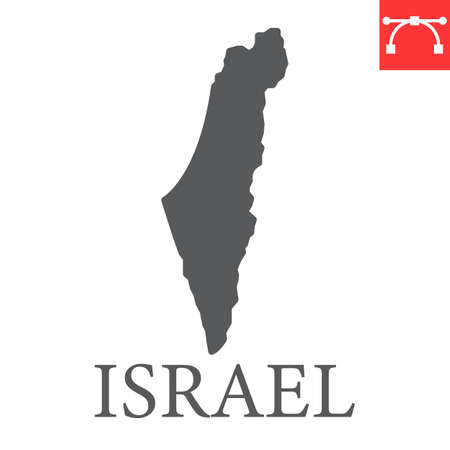 Map of Israel glyph icon Иллюстрация