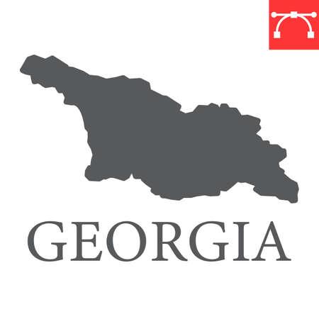 Map of Georgia glyph icon