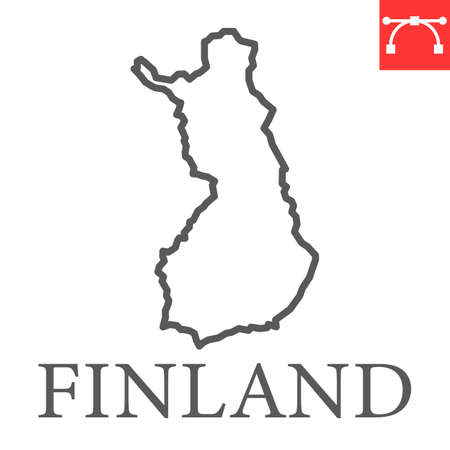 Map of Finland line icon