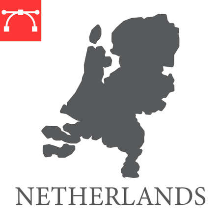 Map of Netherlands glyph icon