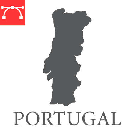 Map of Portugal glyph icon
