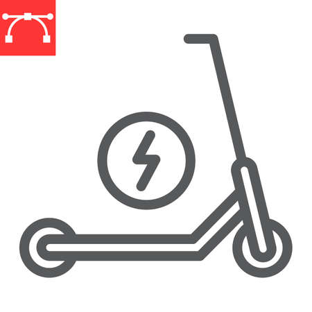 Electric scooter line icon