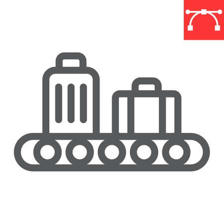 Baggage claim line icon