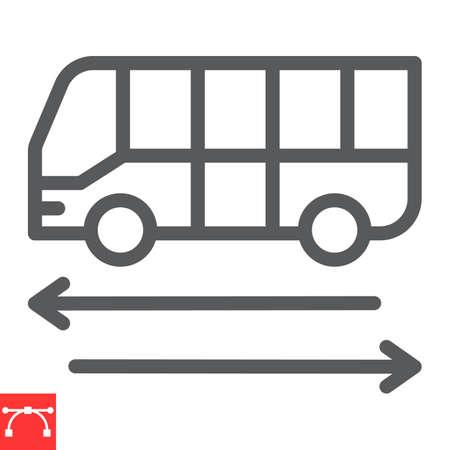 Shuttle bus line icon