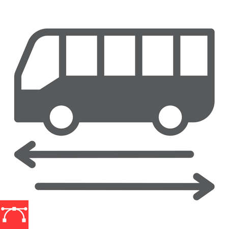 Shuttle bus glyph icon