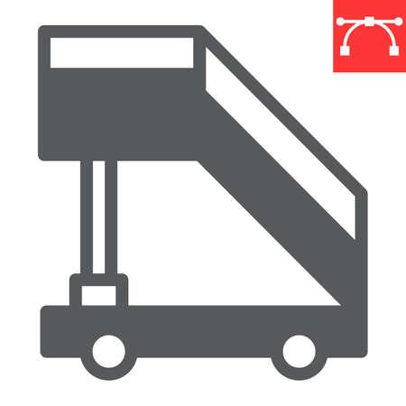 Airport ladder glyph icon