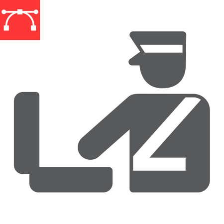 Customs inspection glyph icon