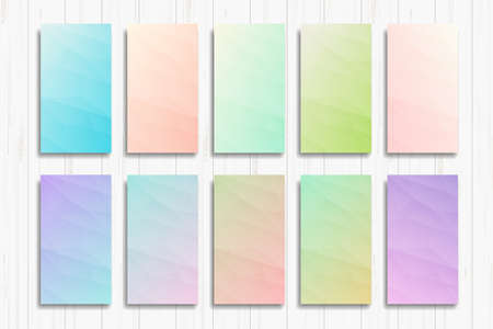 Set of bright abstract backgrounds of pink blue gradients Used for print and web banners