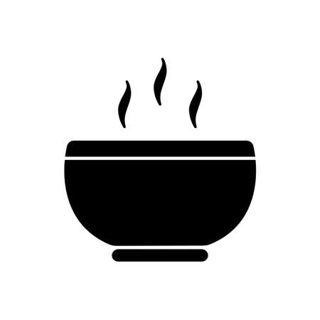 Soup meal vector icon, hot food symbol. Modern, simple flat vector illustration for web site or mobile app isolated on white backround