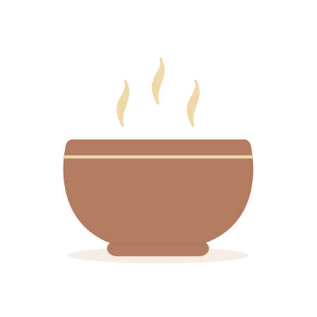 Hot soup icon vector illustration in flat design isolated on white background