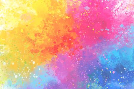 Artistic rainbow colors splash watercolor background. Vector Illustration