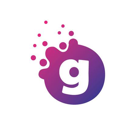 Dots Letter g Logo. g Letter Design Vector with Dots.