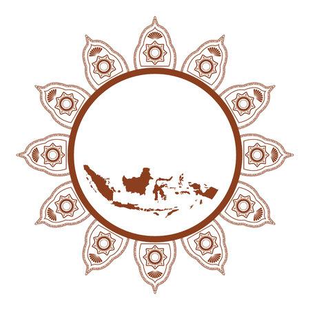 vector illustration batik and island of indonesian