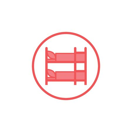 vector illustration child bed icon logo design