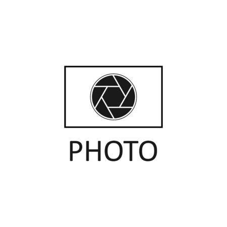 Vector illustration photography icon logo design