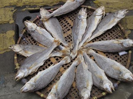 Dried fish at the Asian Hong Kong market Stock Photo - 13666149