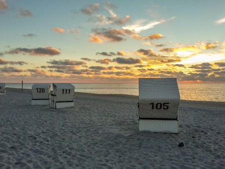 german north sea region: Beach Chairs at Sylt, in Germany