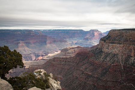 view over the grand canyon from the south rim part, USA Stock Photo