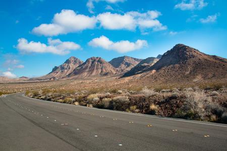 Road through the lake mead national recreation area, Nevada, USA Stock Photo