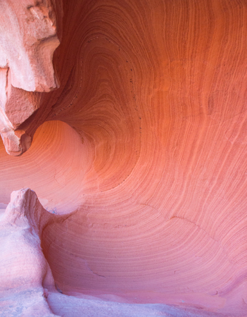 washed out: Red rock sandstone in the lake mead national recreation area, Nevada, USA