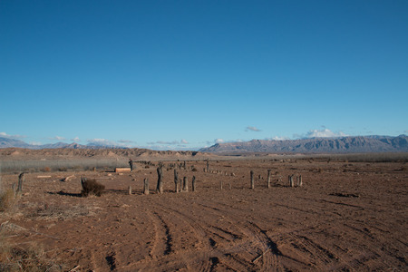 Abandoned Ghost city St Thomas in Lake Mead national recreation area, Nevada, USA