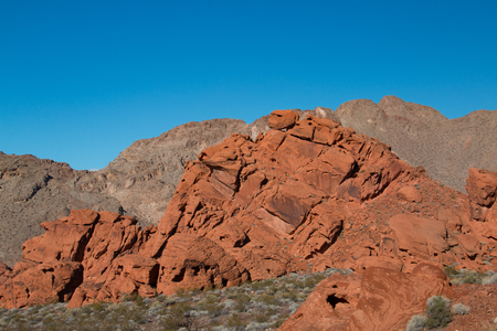 Red rock sandstone in the lake mead national recreation area, Nevada, USA