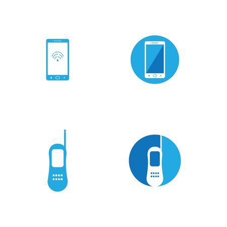 handphone logo vector template illustration design