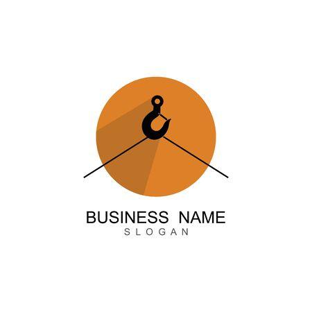 Crane hook logo vector template Logos
