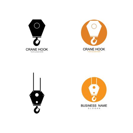 Crane hook logo vector template