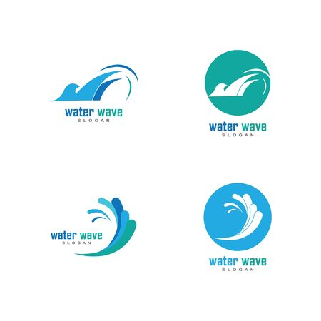 Water Wave symbol and icon Logo Template vector