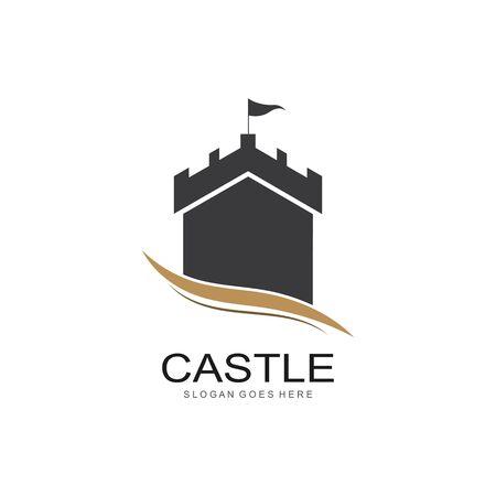 Castle vector illustration icon Template design