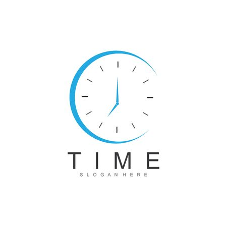 business clock logo template vector icon
