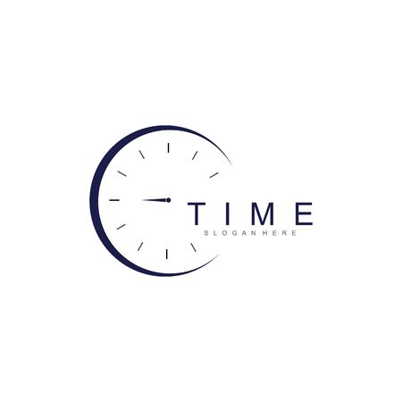 business clock logo template vector icon Logos