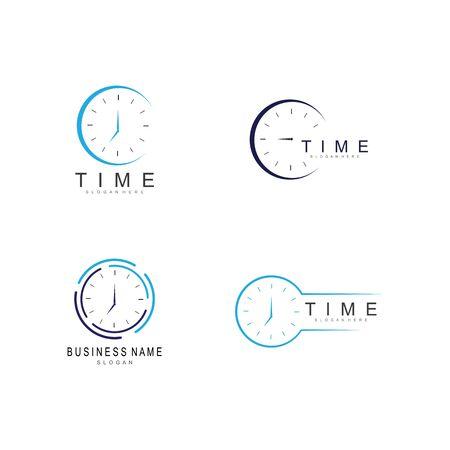 business clock logo template vector icon Illustration