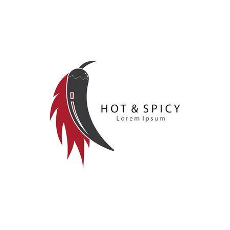 Chili logo vector icon template