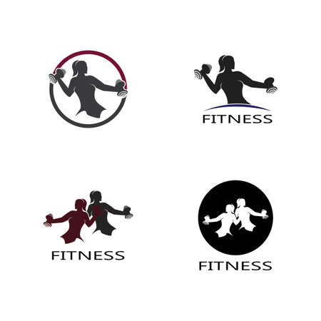 Bodybuilder Logo Template. Vector object and Icons for Sport Label, Gym Badge, Fitness Logo Design