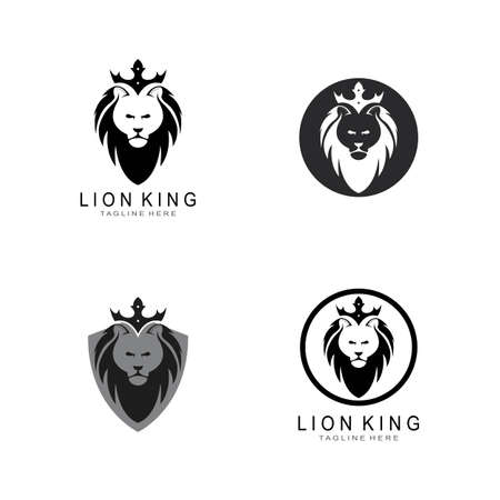 Lion Head  Template Stock Illustratie