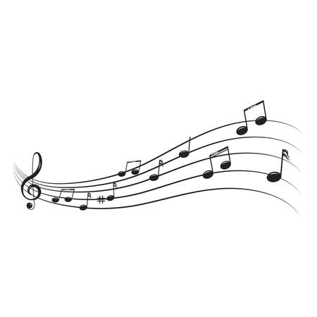 Musical design element,music notes,symbols,vector illustration. - Vector Ilustrace