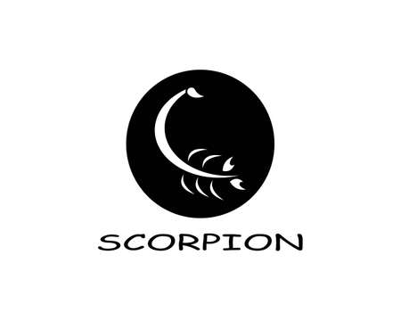 Scorpion icon Template Vector illustration Illusztráció