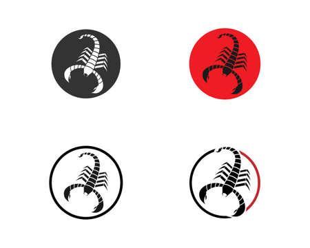 Scorpion icon Template Vector illustration Vettoriali